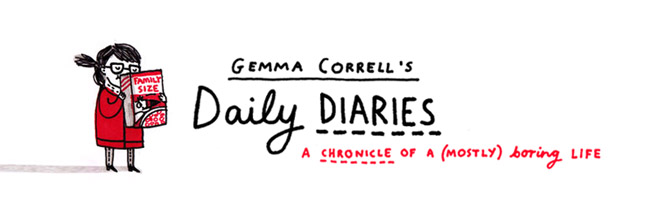 gemma correll&#39;s daily diaries