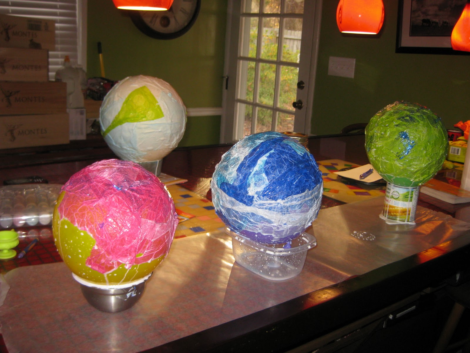 The speckled kat tissue paper mache lanterns for How to make paper mache lamps