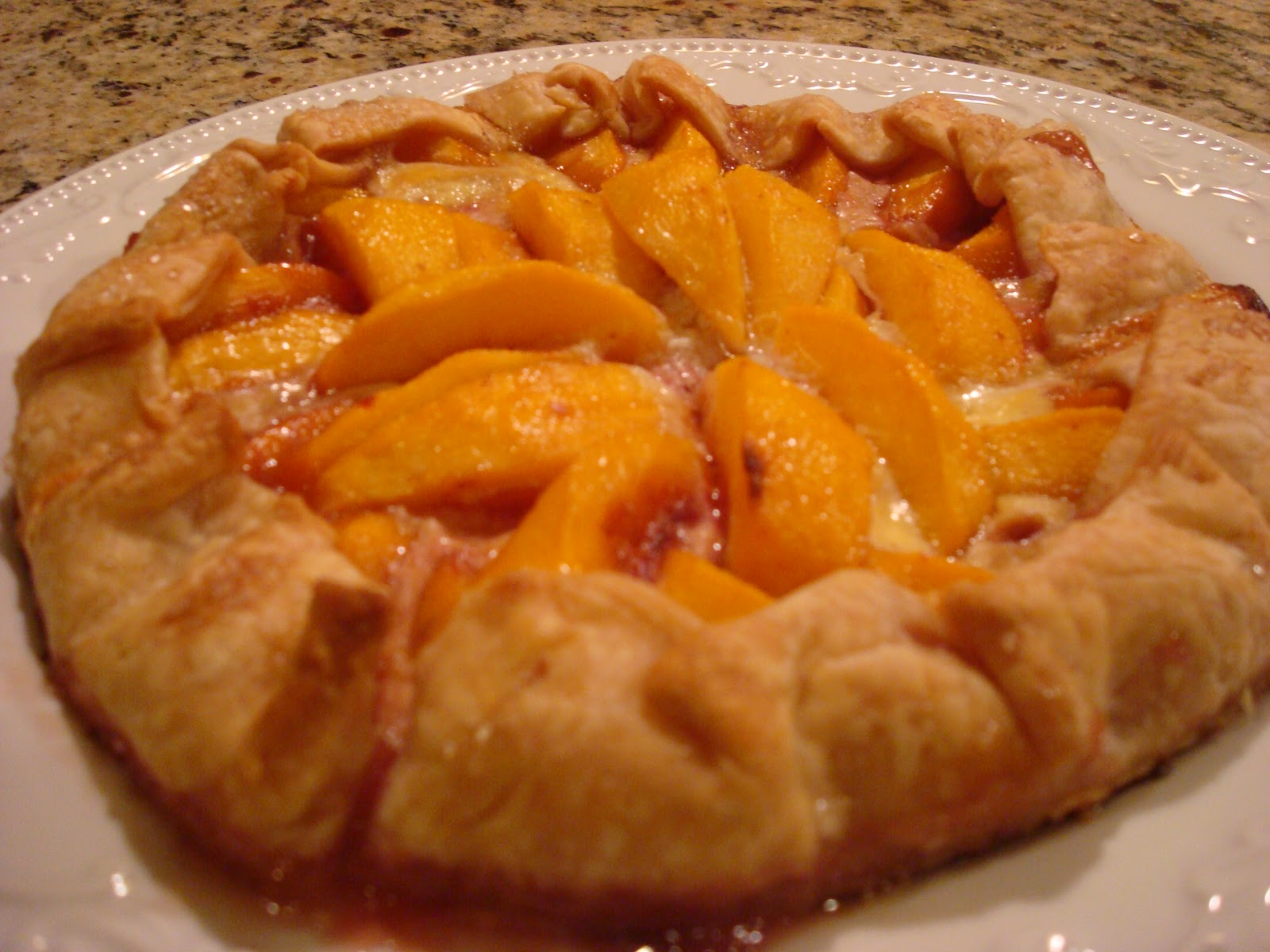 where the magic happens: Peach Galette with Fresh Peaches