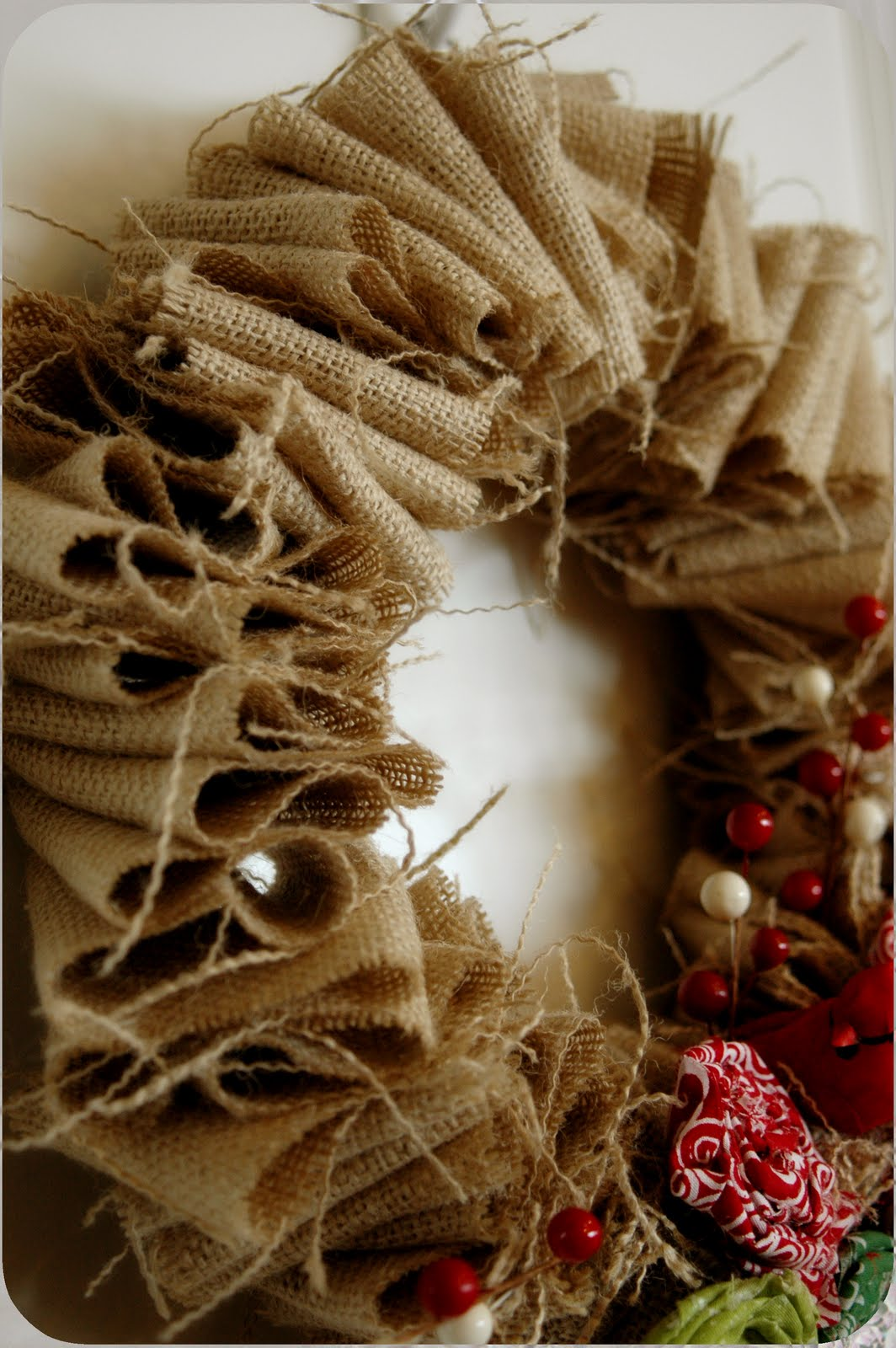 Nannygoat christmas burlap wreath Burlap xmas wreath