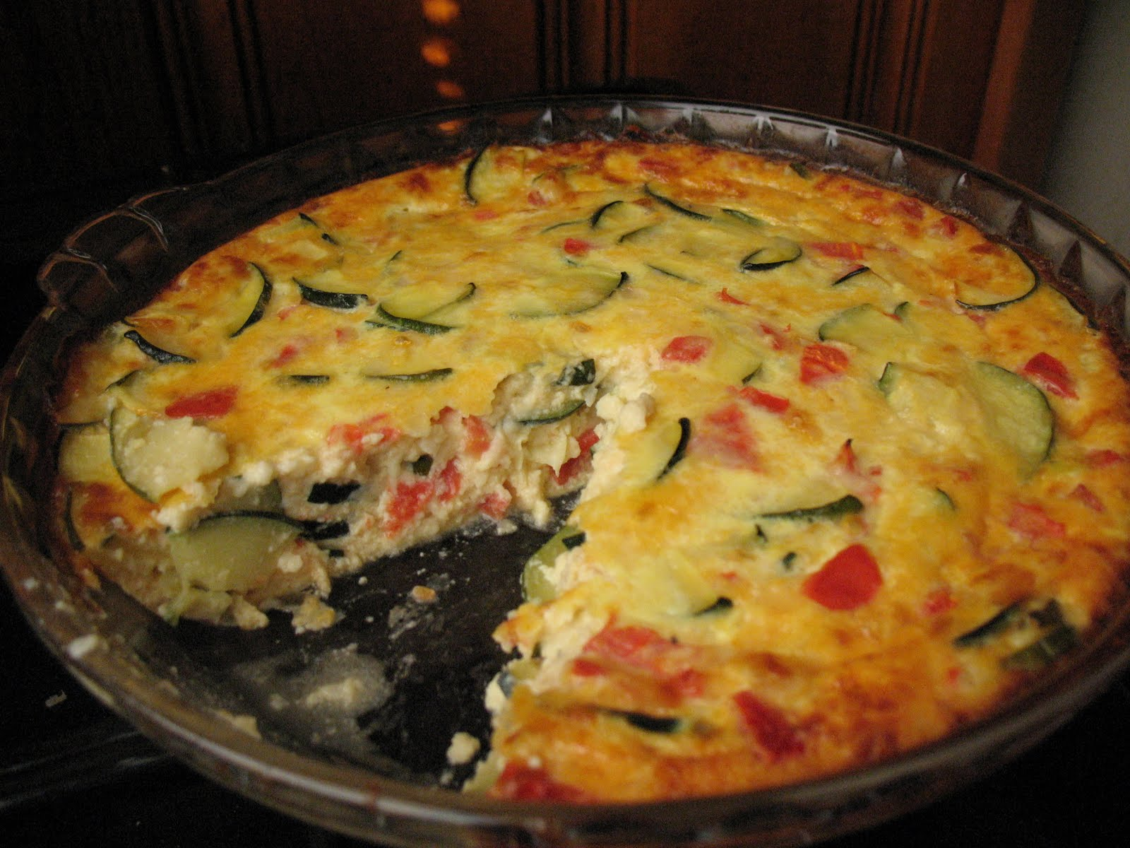 Sherry Starts Cooking: Zucchini and Tomato (Crustless) Quiche