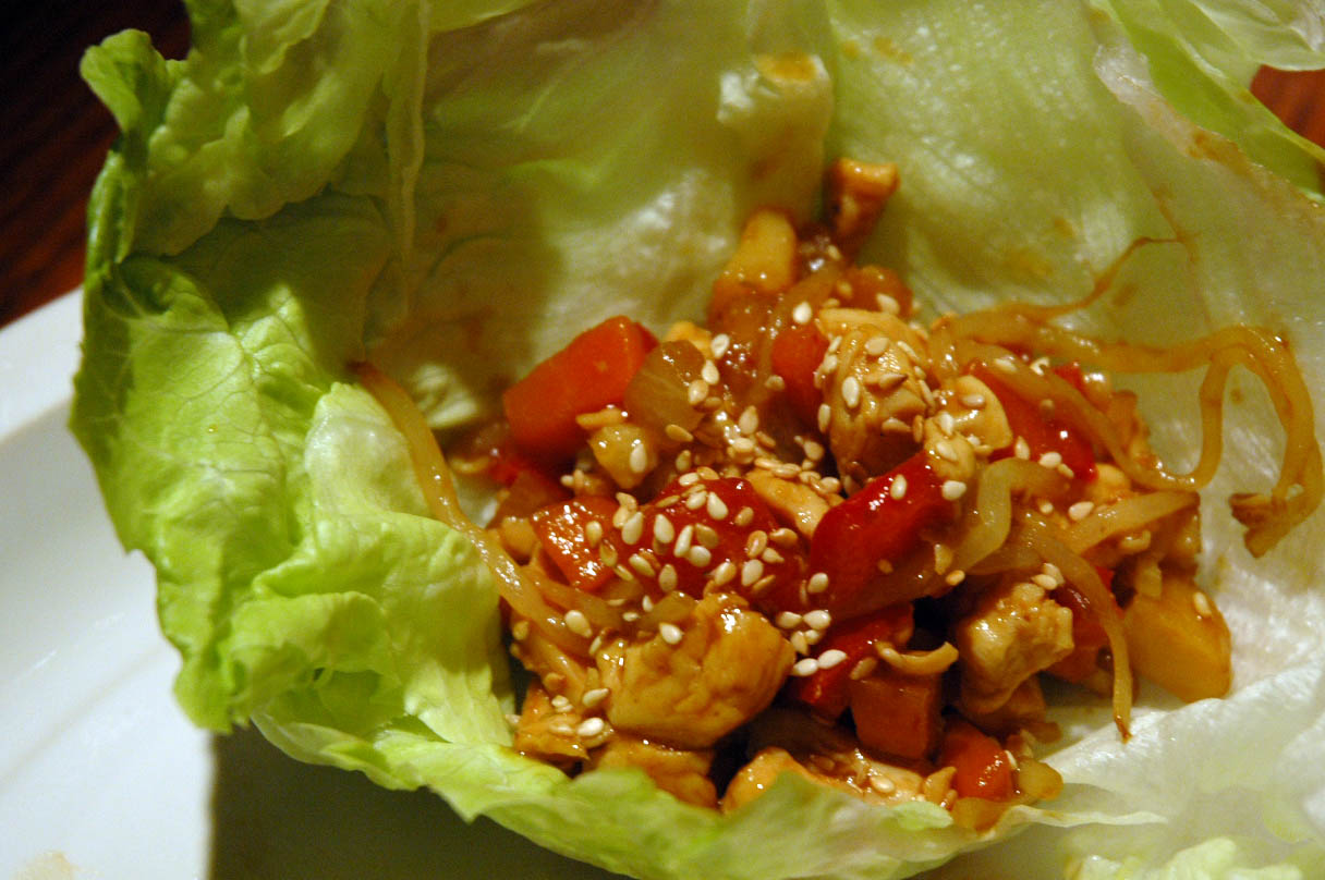 Starting to Simmer: Asian Chicken Lettuce Wraps