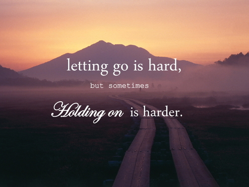 letting go is