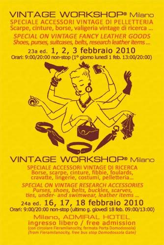 Flyer Vintage Workshop febbraio 2010