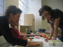 Teaching an Intermediate Encaustic workshop @ Kala Arts, Berkeley, CA  April 11-12, 2010