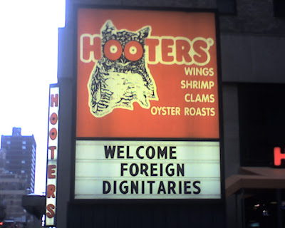 hooters sign, foreign dignitaries welcome, resigned gamer, GTA