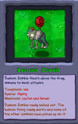 plants vs. zombies, balloon zombie, resigned gamer