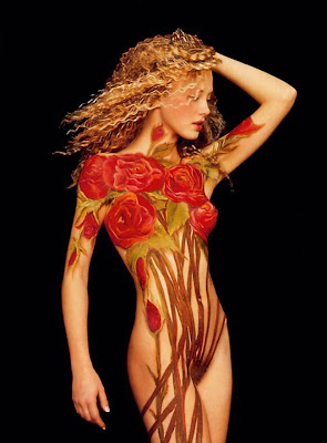 Hot Female Body Painting Pictures