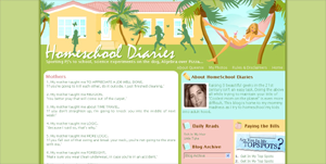 Homeschool Diaries Blogger Design