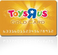 Toys R Us Gold Loyalty Card