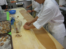 Rolling out Pasta al Cacao