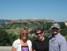 Christine, Gloria, & Greg Overlooking Orvieto