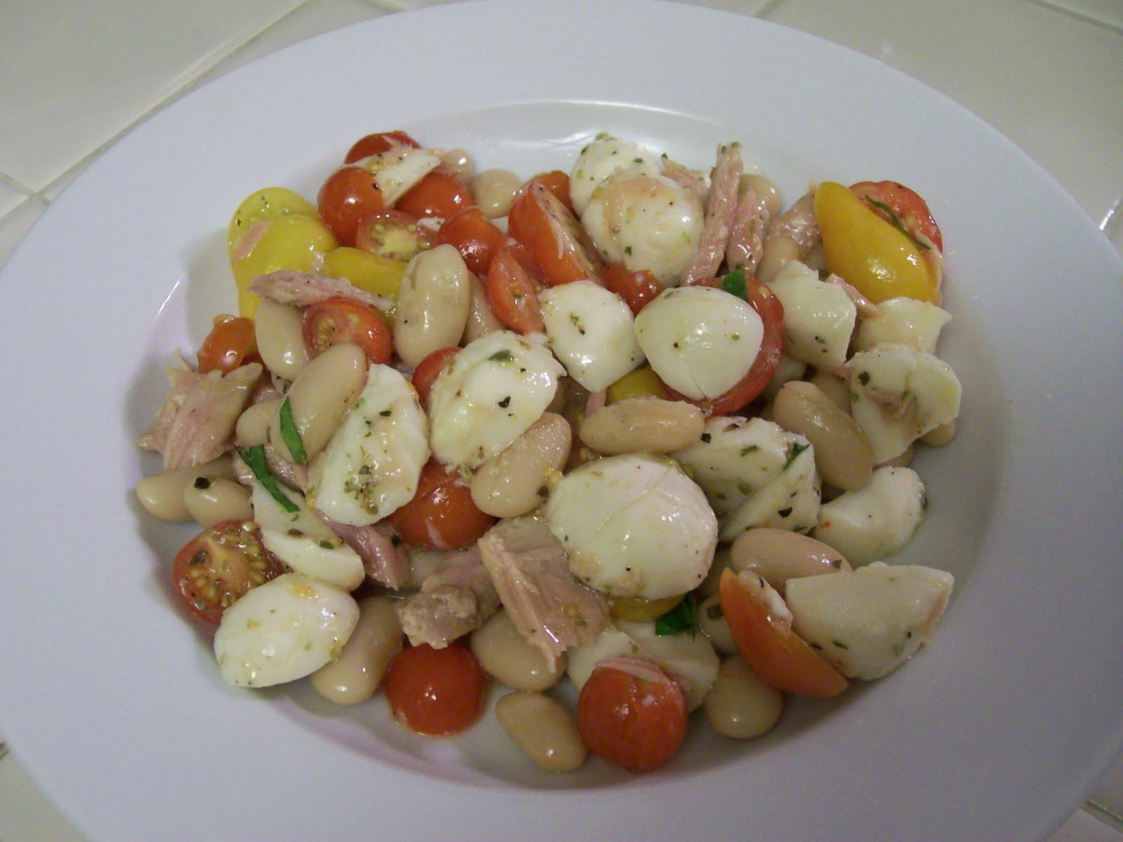 shelly s cannelini tuna caprese salad 1 can tuna fillets