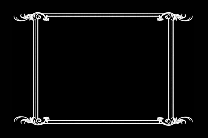 teaching in hollywood: silent movie title card border, Powerpoint templates