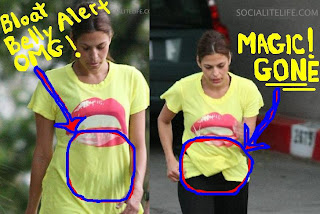 Photos courtesy of Socialitelife.com and Flynet Online showing Eva Mendes not pregnant but out training to stay fit
