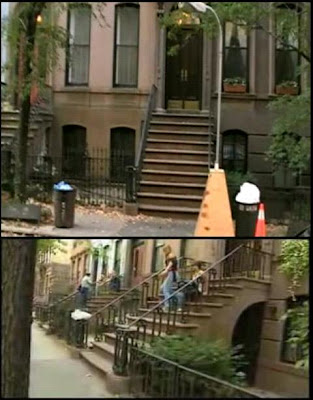 The steps leading from Carrie Bradshaw's brownstone from Sex and the City