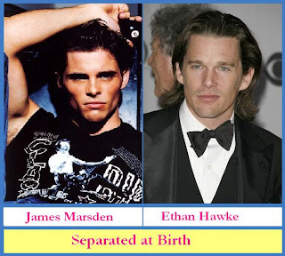 James Marsden and Ethan Hawke look like they were separated at birth
