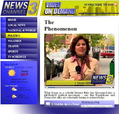 Channel 3 News covers 2008 presidential election