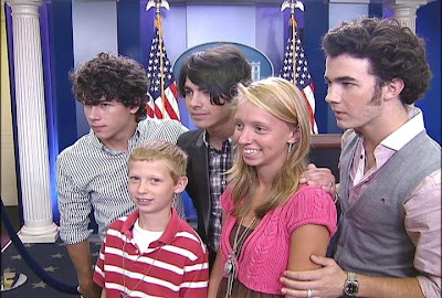 Fans pose with The Jonas Brothers at the White House Press Corps - Photo courtesy of Fox 5 News