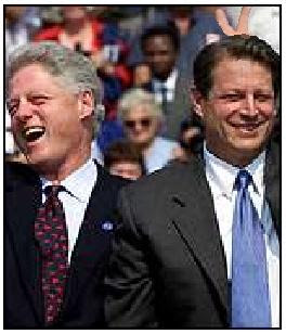 Bill Clinton on the campaign trail with Al Gore - shopped