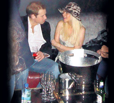 Prince William cavorts with Christine Aguilera and Paris Hilton at a London night club