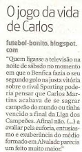 Futebol-bonito nos jornais