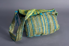Blue/Green Messenger Bag
