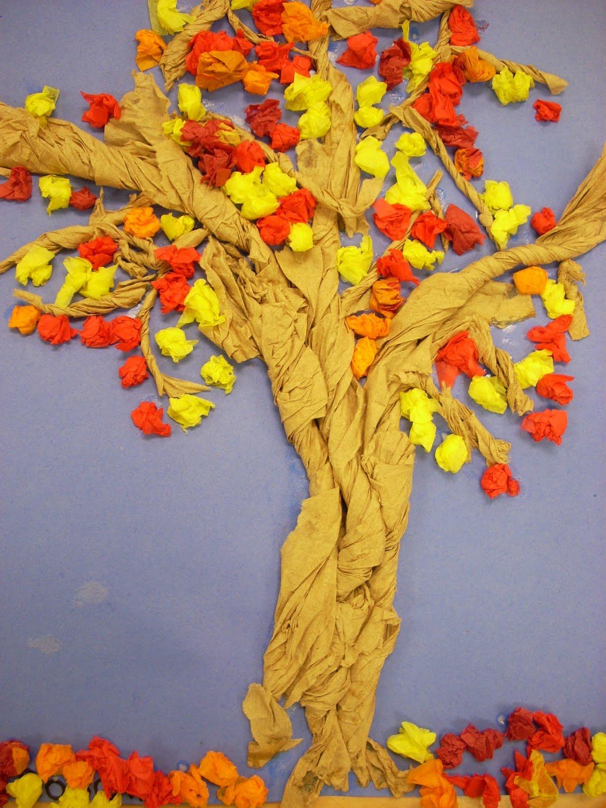 Как сделать деревья из бумаги своими руками