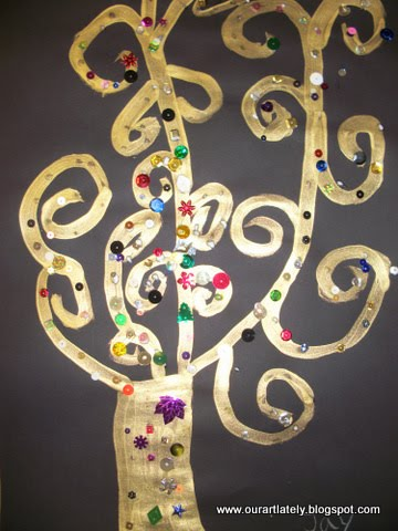 Klimt Tree Of Life Art Lesson we heart art: G...