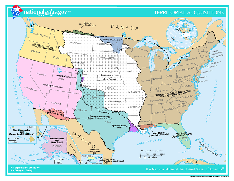 Western Expansion Sites - Detailed map of us during westward expansion