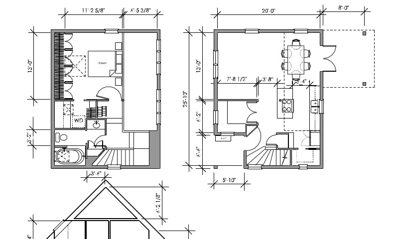 Building an accessory dwelling unit adu in portland for Accessory dwelling unit floor plans