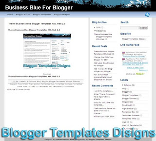 Theme Business Blue Blogger Templates XML Web 2.0