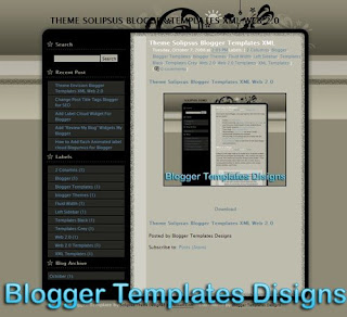Theme Solipsus Blogger Templates XML Web 2.0
