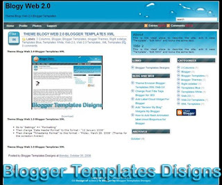 Theme Blogy Web 2.0 Blogger Templates XML