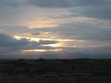 Í ljósaskiptunum við Mýrdalsjökul