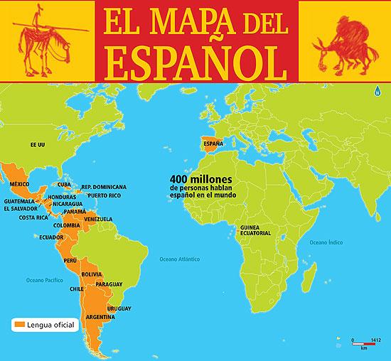 mapa del espanol