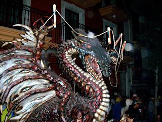 detalle del dragon cargado