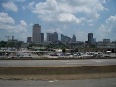 Nashville skyline on drive out