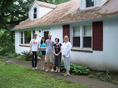 Standing in front of the manse where Josh and Adam and Stu grew up in Philly