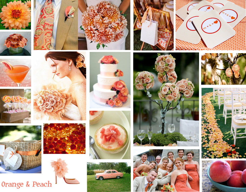 If I Have A Wedding In October Is It Too Late To Have Peach Colors