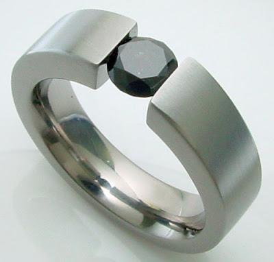 Sapphire Titanium Ring