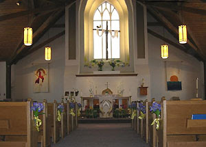 Inside St James' Anglican, Cambridge, Ontario