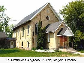 St Matthew's Church, Kingarf, Ontario