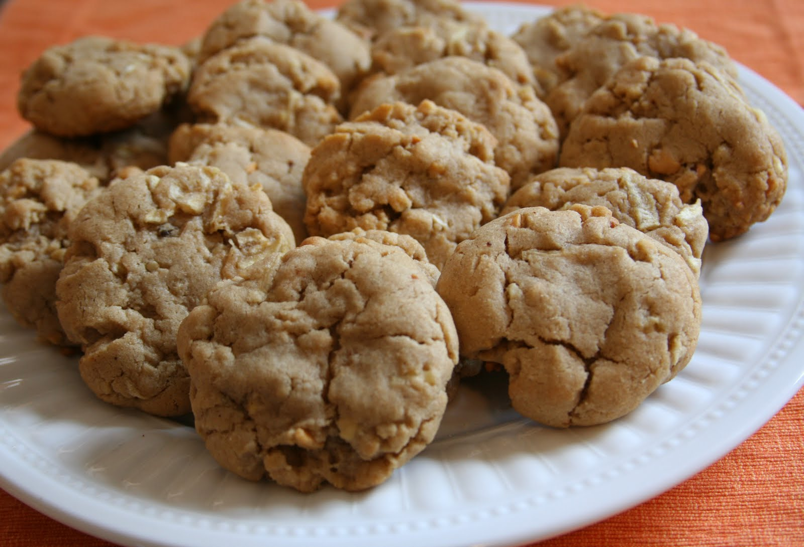 Apple Peanut Butter Cookies - Honeybear Lane