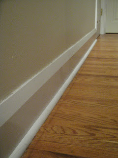 Quarter round trim in my hallway