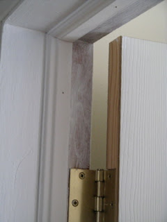 Unfinished bedroom door frame