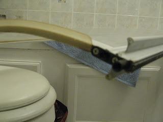The shower door part I replaced