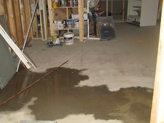 This puddle is definately a new leak in my basement