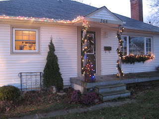 My home decorated for Christmas