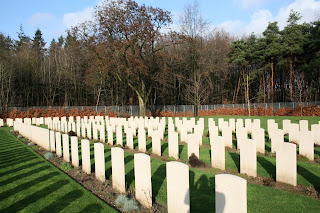 WWII graves at Rheinberg War Cemetary